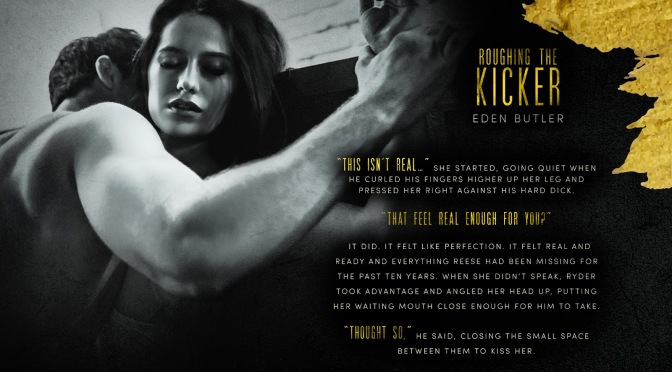 COVER REVEAL!!! ~ Roughing the Kicker by Eden Butler